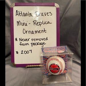 Atlanta Braves Mini Replica Ornament